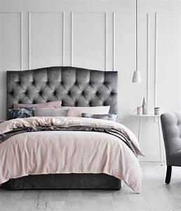 1001 conseils et idees pour une chambre en rose et gris With chambre gris noir et blanc