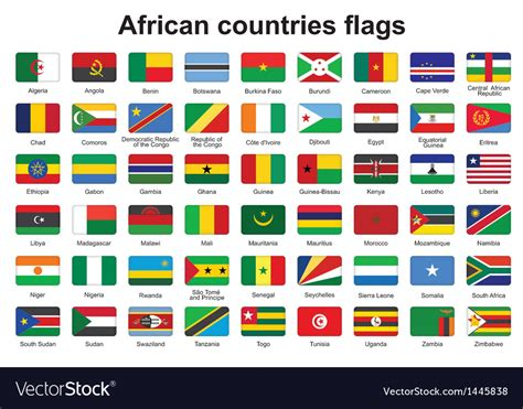 African Countries Flag Buttons Royalty Free Vector Image