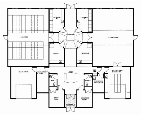 pin  dog care facility floorplans