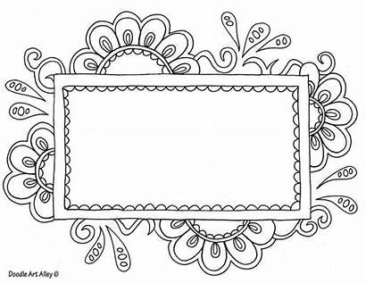 Doodle Frame Labels Flower Google