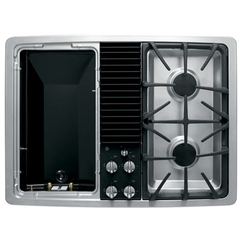 shop ge profile  burner downdraft gas cooktop stainless common   actual