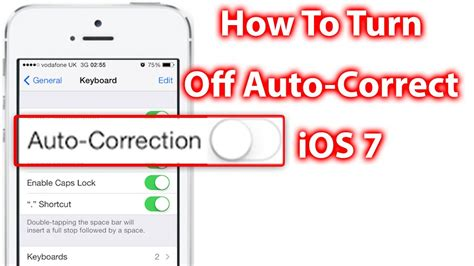 how to turn on autocorrect on iphone how to turn auto correct ios 7 iphone and ipod