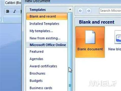 how to create a resume in microsoft word 2007