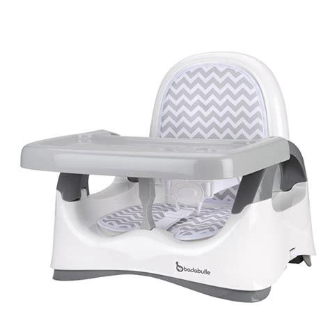 adaptateur chaise bébé réhausseur de chaise confort blanc et gris 5 sur allobébé