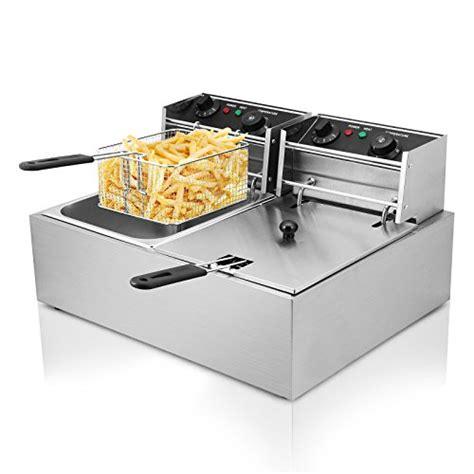 fryer deep commercial electric restaurant tank fat chip steel 10l fryers dual stainless 5000w 20l litre twin appliances