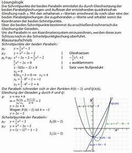 Scheitelpunkt Berechnen Parabel : gerade parabel bungsaufgaben realschulabschluss ~ Themetempest.com Abrechnung
