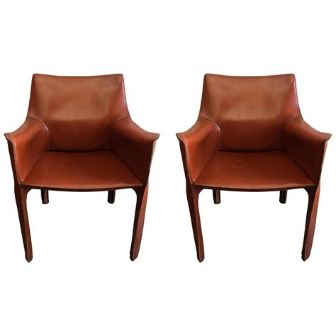 pair of mario bellini cassina cab leather chairs at 1stdibs