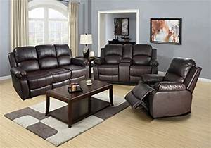 Lifestyle bonded leather sofa loveseat chair with drop for Eurodesign brown leather 5 piece sectional sofa set