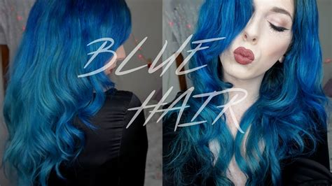 Blue Hair Tutorial Cwissi Youtube
