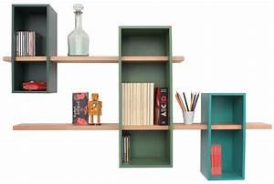 Etagere Salon Design : etagere murale design pour le salon c t maison ~ Teatrodelosmanantiales.com Idées de Décoration