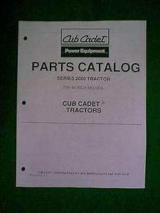 Ih Cub Cadet Tractor   208 44 U0026quot  Mower Deck Parts Manual