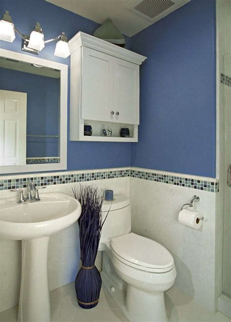 Decorating Ideas Blue And White Bathrooms by Bathroom Mosaic Backsplash Tile Idea Feat Stylish Blue