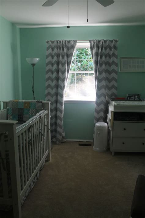 mint green grey chevron mustache nursery mj pinterest