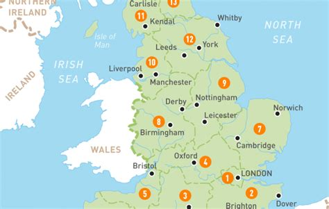 map  england england regions rough guides rough guides