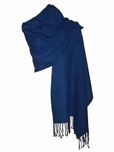 Echarpe Femme Laine : etole echarpe femme bleu indigo en laine fine finebi accessoires de mode pour ~ Nature-et-papiers.com Idées de Décoration