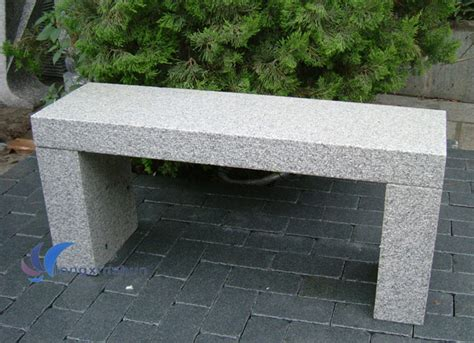 chine banc de pierre de granit gris naturel pour