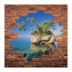 Mur Trompe L Oeil : sticker mural trompe l 39 oeil mur de pierre d co ile r f 888 stickers muraux deco ~ Melissatoandfro.com Idées de Décoration