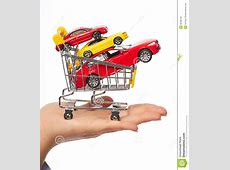 New Car In Shopping Cart Stock Photo Image 35582100