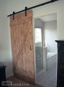 pretty distressed diy distressed sliding barn door With darn door