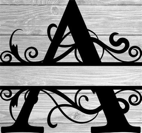 split monogram svg split letter monogram  tiffscraftycreations