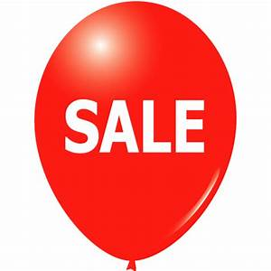 Red SALE Balloons - 10 inch Red latex sale balloons