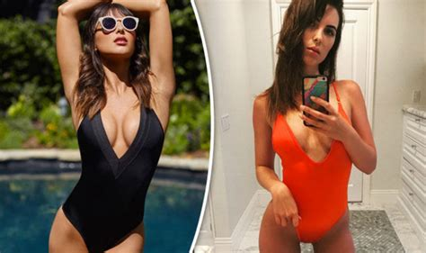 jeremy renner swimsuit brittny ward flashes extreme cleavage as she strips off