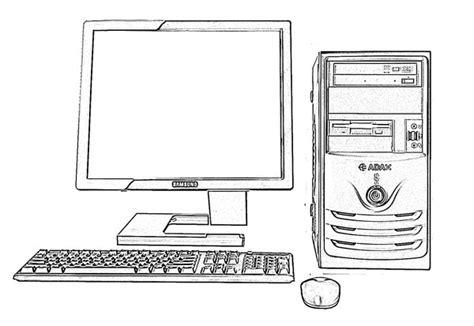 desktop computer technology sketch image sketch