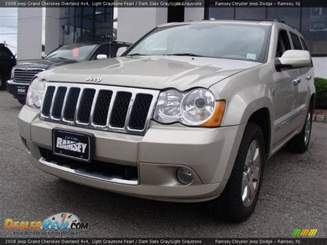 dark gray jeep grand cherokee 2008 jeep grand cherokee overland 4x4 light graystone