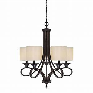 Westinghouse lenola light amber bronze chandelier with