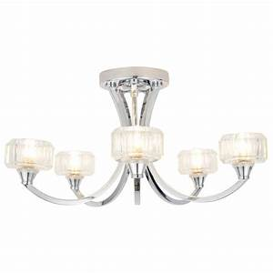 Forum octans light ceiling fitting spa chr at