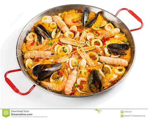 recette cuisine traditionnelle paella traditionnelle espagnole photo stock image 57631441