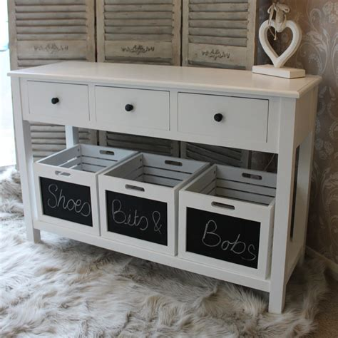 Foyer Tables With Storage by Berkeley Unit With 3 Storage Boxes Melody Maison 174