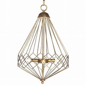 Open gold teardrop industrial loft cage pendant kathy