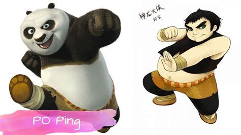Kung Fu Panda Characters As Humans