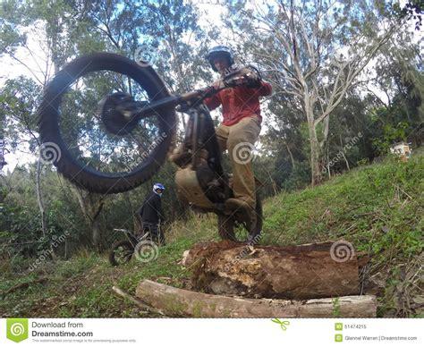 Trials Dirt Bike Wheelie Editorial Photo