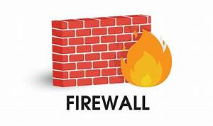 Network Firewall Icon  Illustration Vector On White