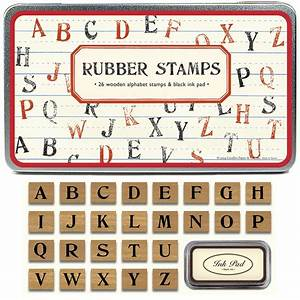 tin of uppercase alphabet rubber stamps With rubber stamps alphabet letters