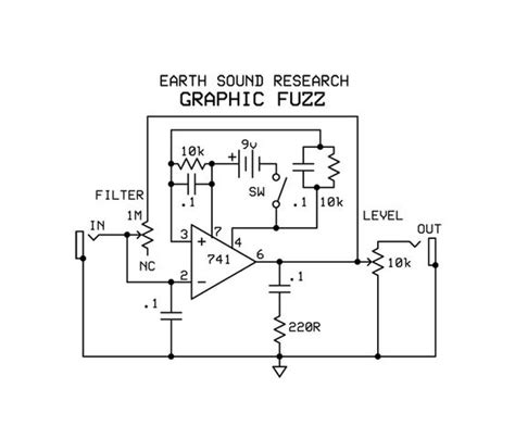 Earth Sounds Research Graphic Fuzz Schematic Pedals