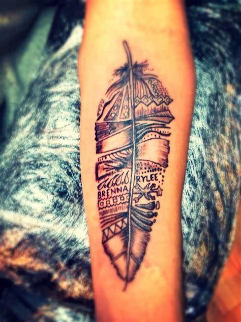amazing feather tattoo design mens craze