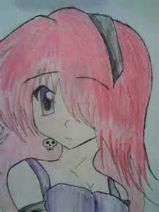 Drawing Anime Girl with Pink Hair