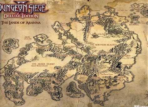 dungeon siege 3 map image aranna jpg dungeon siege wiki fandom powered