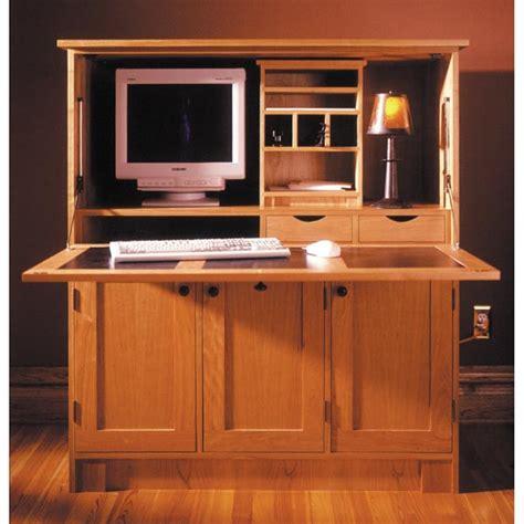 home office hideaway computer desk woodworking plan