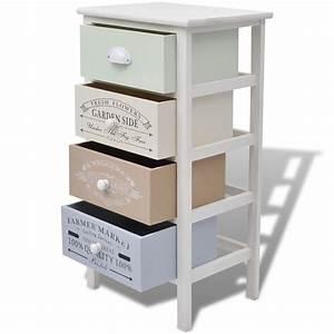Rangement Tiroir Bois : acheter vidaxl armoire de rangement 4 tiroirs bois pas ~ Edinachiropracticcenter.com Idées de Décoration