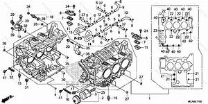 Honda Motorcycle 2016 Oem Parts Diagram For Cylinder Block
