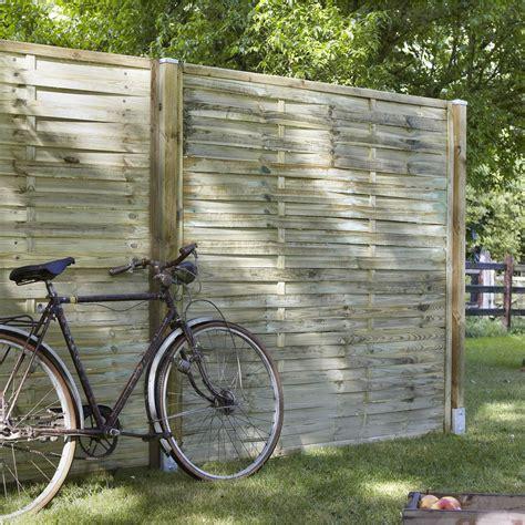 panneau bois jardin panneau bois occultant natura l 180 cm x h 180 cm naturel leroy merlin