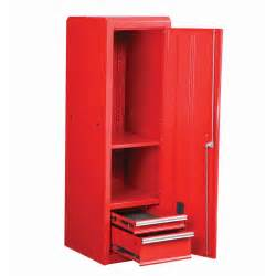 Side Locker Tool Box 18 in glossy red end cabinet for roller tool chest