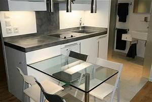 Plan De Travail Com : cuisine plan travail zinc design de cuisine ~ Melissatoandfro.com Idées de Décoration