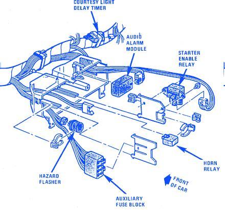 chevrolet corvette  electrical circuit wiring diagram carfusebox