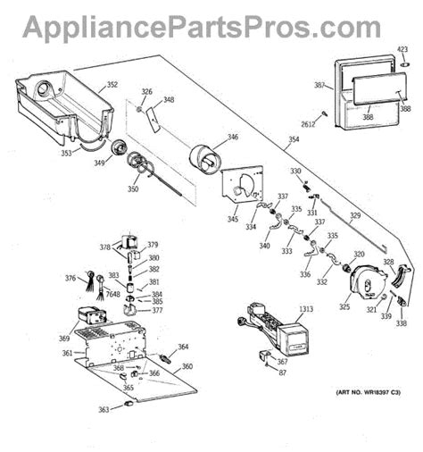 parts  ge zisbdca ice bucket assembly parts appliancepartsproscom