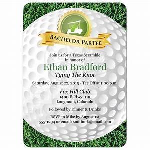 Bachelor Party Invitation Golf, Golfing Theme Golf